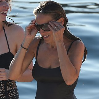 Sarah Jessica Parker Wearing a Swimsuit in Ibiza Pictures