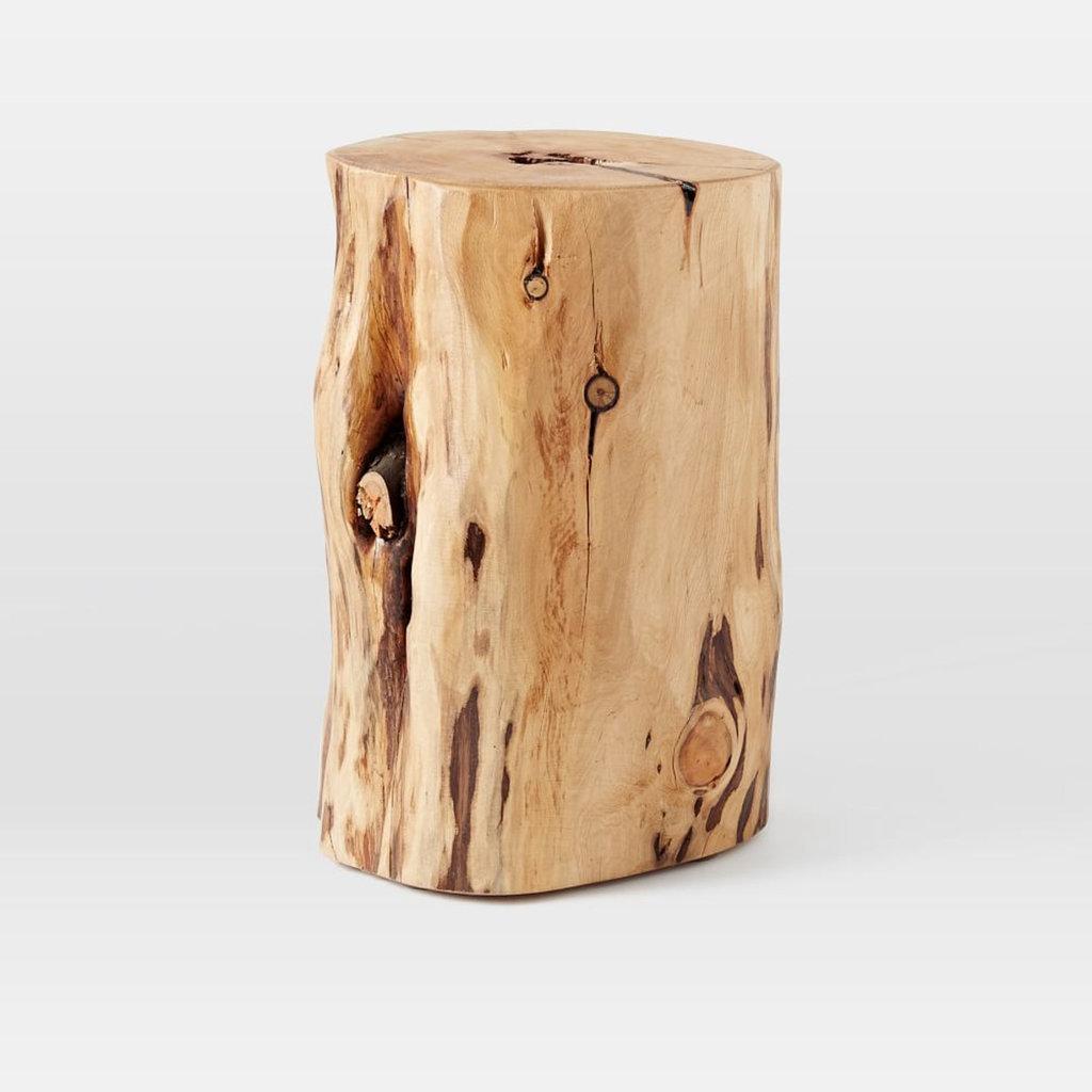 Silver Tree Stump Coffee Table: West Elm Natural Tree Stump Side Table, $254
