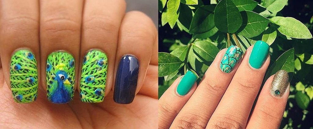 25 Peacock-Inspired Nail Art Looks That Will Get You Noticed