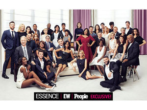 EXCLUSIVE PHOTO: Shonda Rhimes Poses with the Casts of Scandal, Grey's Anatomy, and How to Get Away with Murder