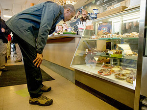 President Obama Visits a Local Cafe in Alaska - and Buys Out Their Cinnamon Rolls