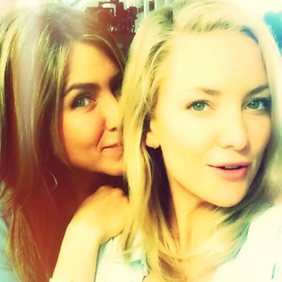 Kate Hudson Tries to Convince Jennifer Aniston to Join Instagram With the Cutest Photo