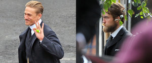 Charlie Hunnam and Robert Pattinson Make One Handsome Pair on Set