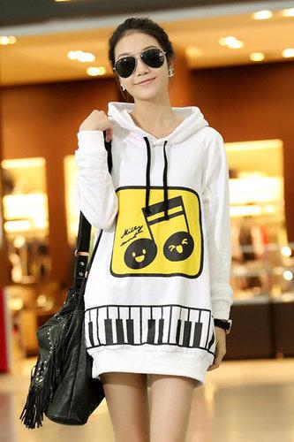 Fashion Long Sleeve Long Pullovers Yellow Cotton Sweater - Vuhera.com