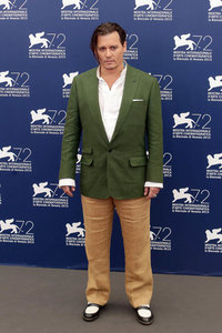 Johnny Depp at Venice Film Festival photo call for Black Mass