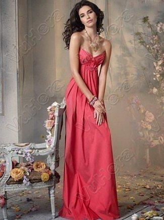 Sweetheart Ruched Floor Length Red Evening Dress - Vuhera.com