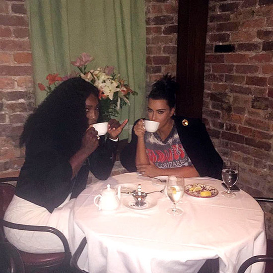 Serena Williams Sips (and Spills) Tea with Kim Kardashian Before Facing Sister Venus at the U.S. Open