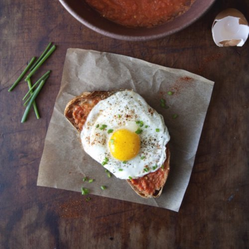 Pan Con Tomate With A Fried Egg And Chives Popsugar Food