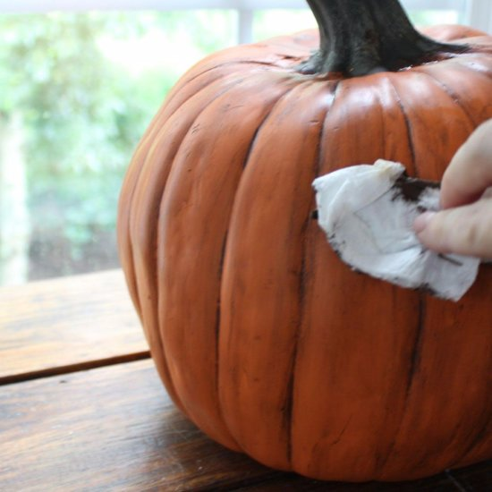How to Make a Plastic Pumpkin Look Real