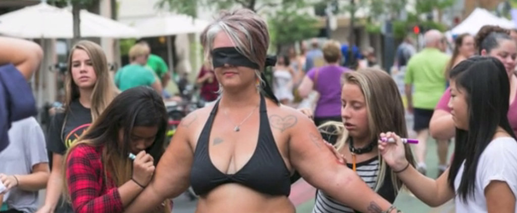 Watch as a Woman Strips Down in a Farmers Market to Help Promote Body Acceptance