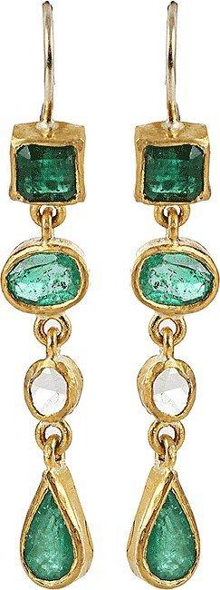 BOAZ KASHI Kiyojo Emerald Drop Earrings ($7,590)