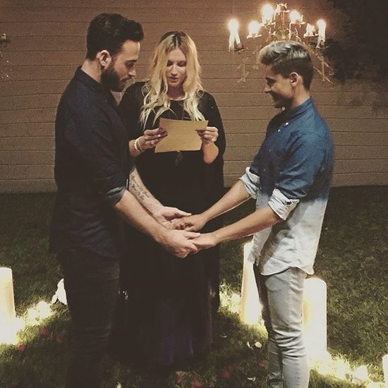 Kesha Officiating a Gay Wedding on Instagram