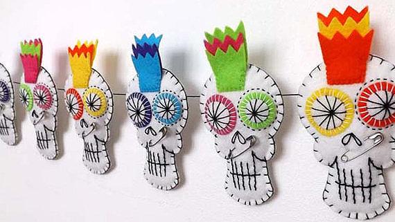 Colorful Sugar Skull Garland