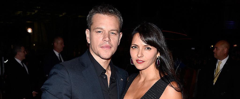 Matt Damon and Luciana Barroso Flaunt Their Love on the Red Carpet