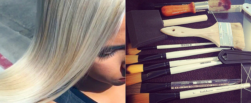 Hand-Pressed Hair Color Is the Coolest Thing You'll See Today