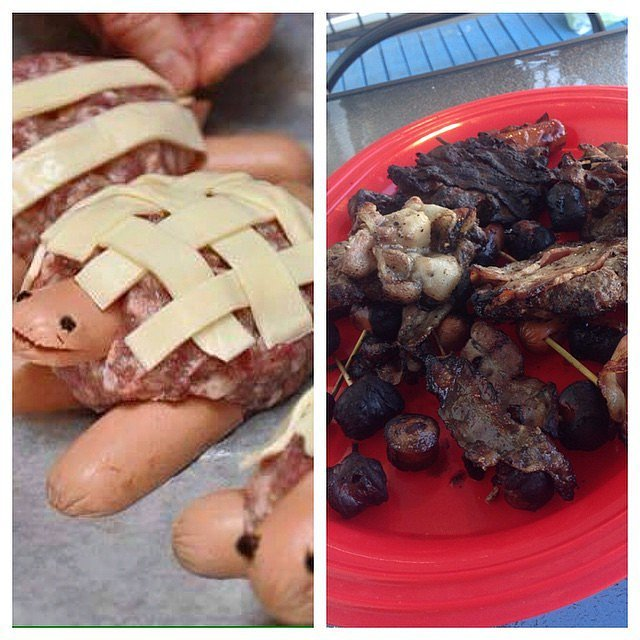 The creator of these turtles (?) wonders if they're even close enough to be a fail? Source: Instagram user llonce