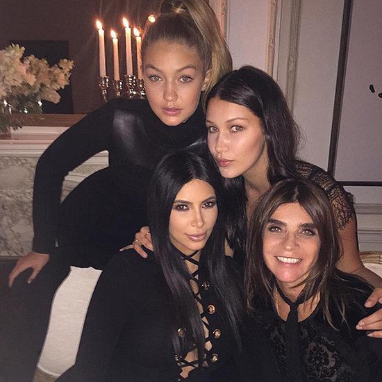 Gigi Hadid Wearing Black Lace