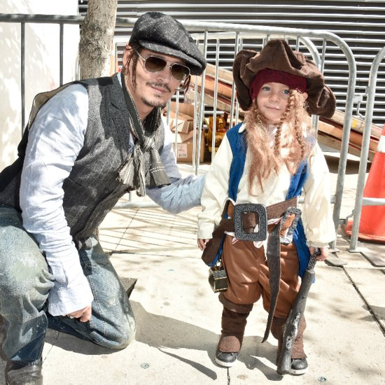 Johnny Depp Meets Mini Captain Jack Sparrow