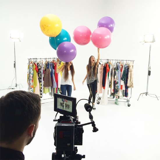 Behind the Scenes on a Video Fashion Shoot