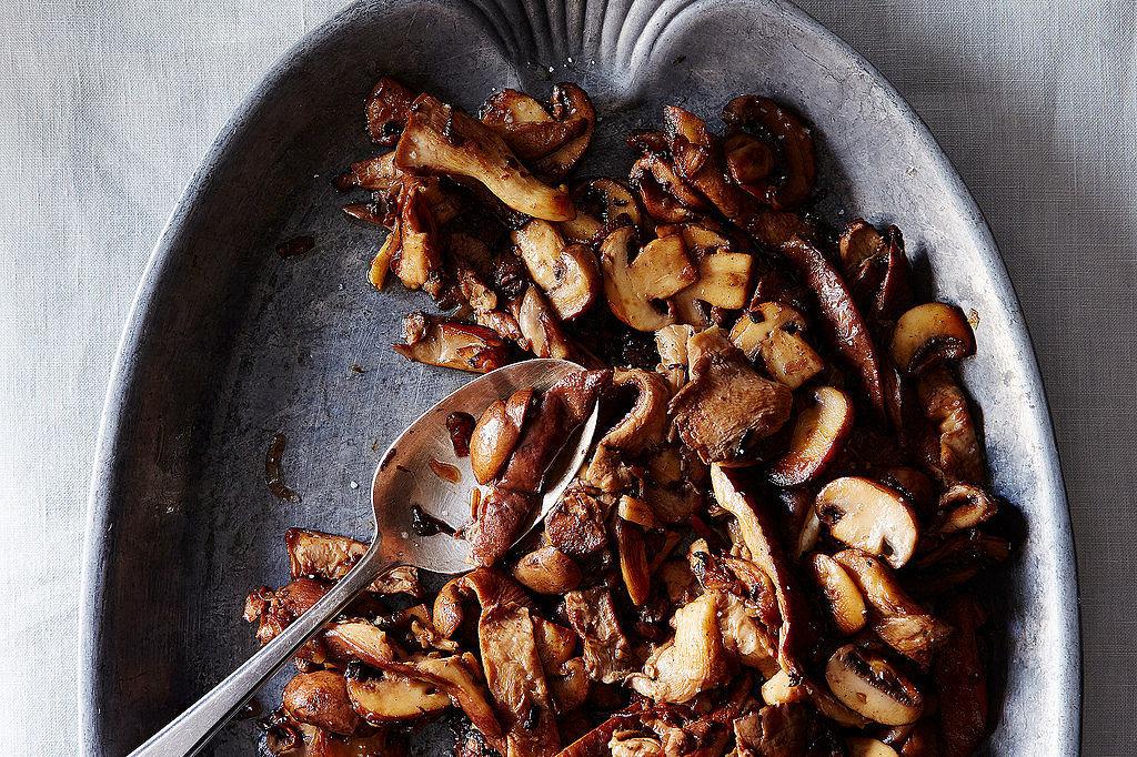 Sautéed Mushrooms With Pickle Brine Butter