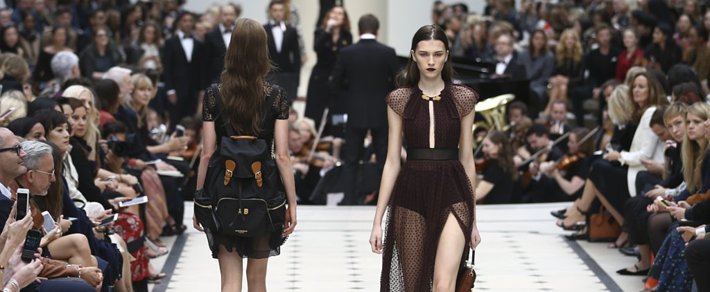 Burberry Is Back in Black (With a Backpack) For Spring 2016