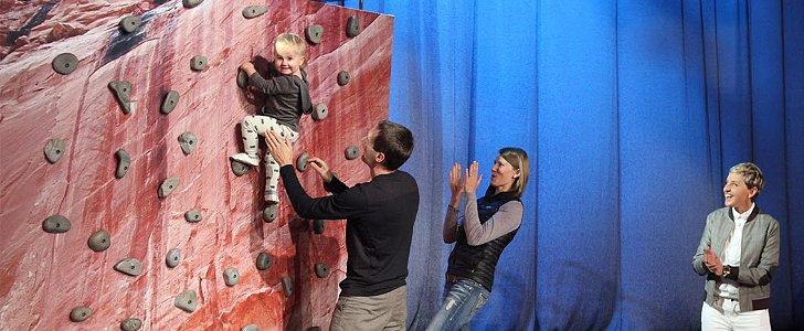 Meet the 1-Year-Old Rock-Climbing Baby Who Wows Ellen DeGeneres