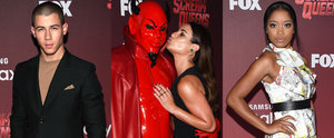 Lea Michele Goofed Off With the Red Devil at the Scream Queens Premiere