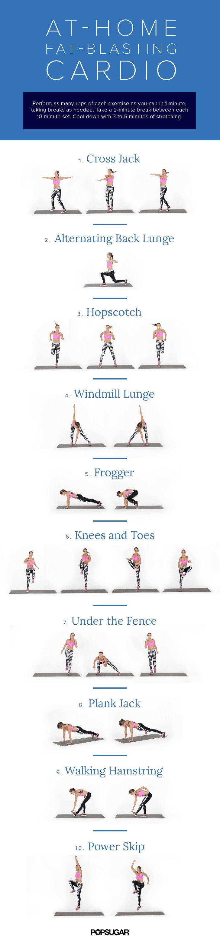 Workouts to do inside popsugar fitness australia for Living room workout