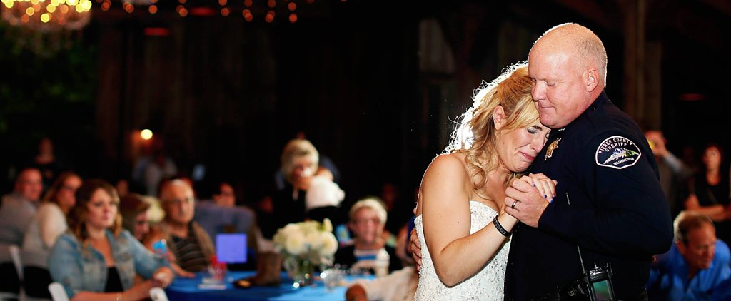 Bride Whose Dad Died on Duty Shares Father-Daughter Dance With Officers
