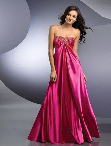 Strapless Floor-length Sleeveless Satin Prom Dress - Vuhera.com