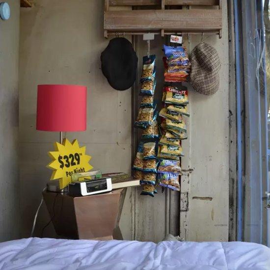 Airbnb Deli Window Display