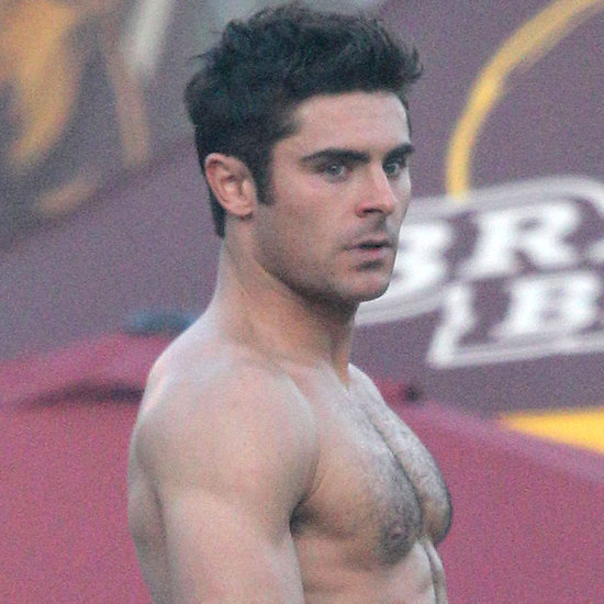 Zac Efron Grabbing His Bulge on the Set of Neighbors 2