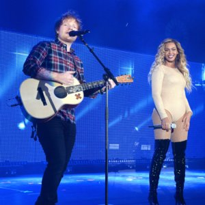 "Beyonce and Ed Sheeran Singing ""Drunk in Love"" Video"