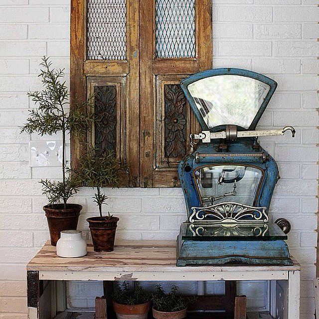 Repurposed Utility Items, Like an Old Scale, Are Unexpectedly Gorgeous