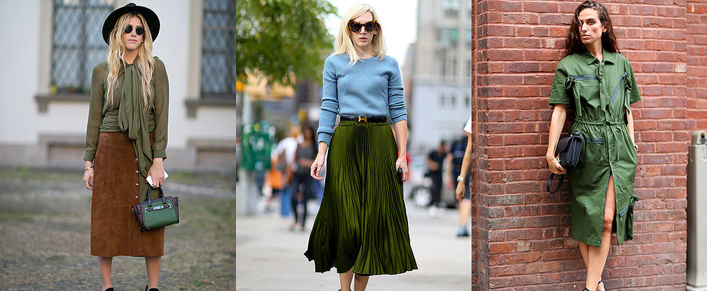 How to Master the Military Green Trend That's Taking Over Fashion Week