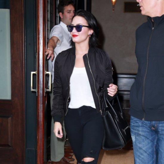 "Demi Lovato Wears ""Confident"" Jacket in New York City"