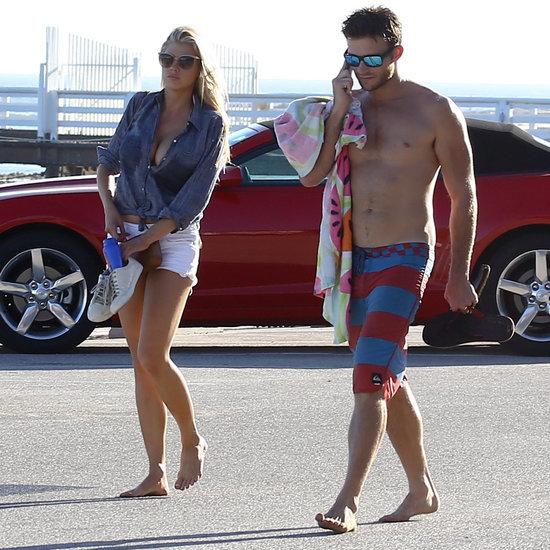 Scott Eastwood and Charlotte McKinney at the Beach in Malibu