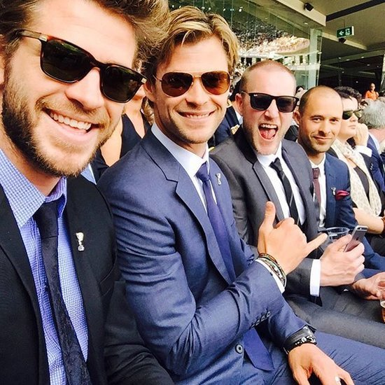 Liam and Chris Hemsworth at the AFL Grand Final