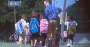 Teacher Who Walks Students Home Every Day Gets Recognition With Viral Photo