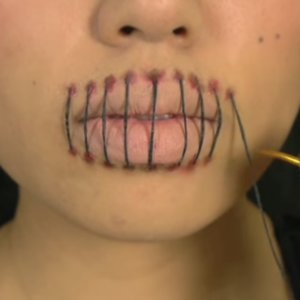 Stitched Mouth Makeup Tutorial | Video