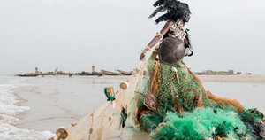 Afrofuturist Photos Transform Senegal's Trash Into Haute Couture