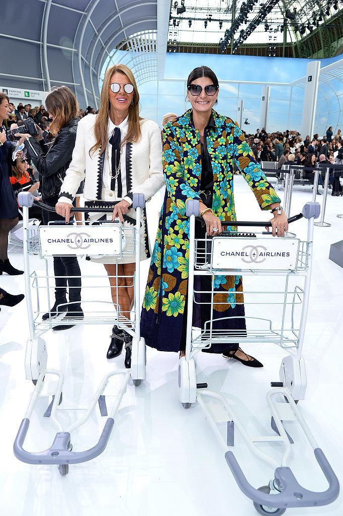 Anna Dello Russo and Giovanna Battaglia