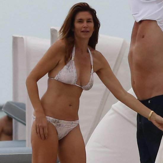 Cindy Crawford and Rande Gerber on the Beach in Miami