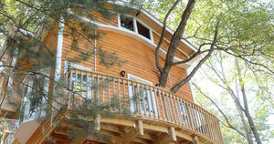 One Grandfather Built The Ultimate Treehouse For His Grandkids