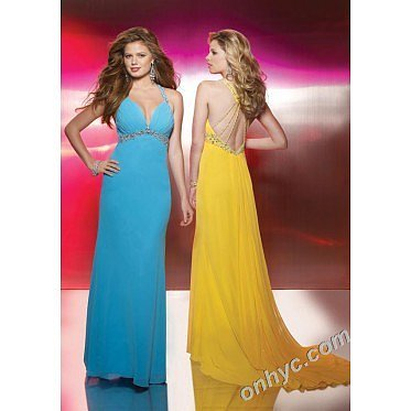 Sheath Strap Chiffon Beading Multicolor Long Prom Dress