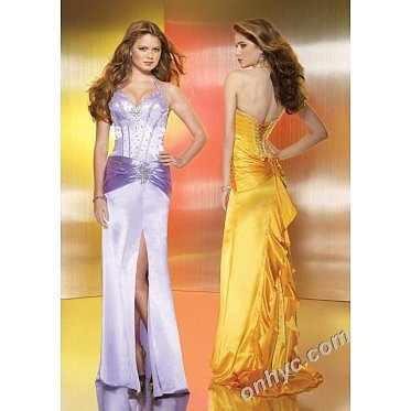 Sheath Halter Top Elastic Woven Satin Beading Split Front Royal Blue Long Prom Dress