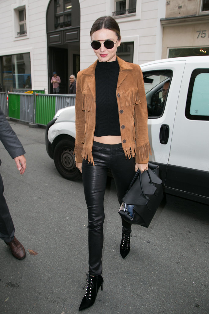 Miranda Kerr Street Style At Fashion Week Spring 2016 Popsugar Fashion