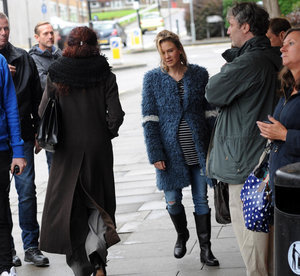 Renee Zellweger on the set of Bridget Jones's Baby in London