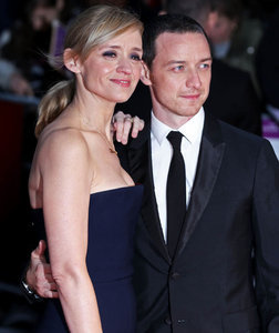 Anne-Marie Duff and James McAvoy at Suffragette premiere in London