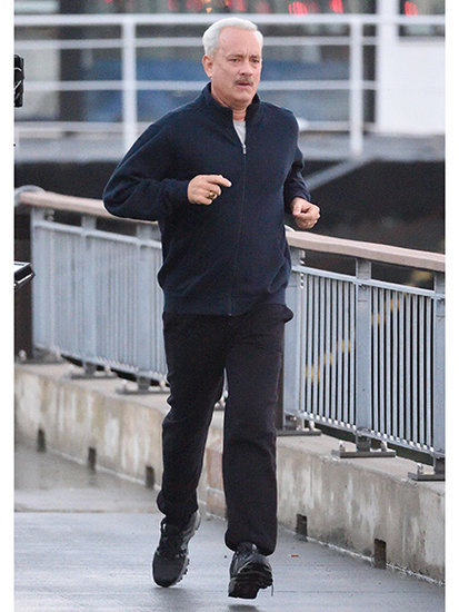 Tom Hanks Pulls a Forrest Gump While Filming New Movie, Runs by a Bubba Gump Shrimp Co